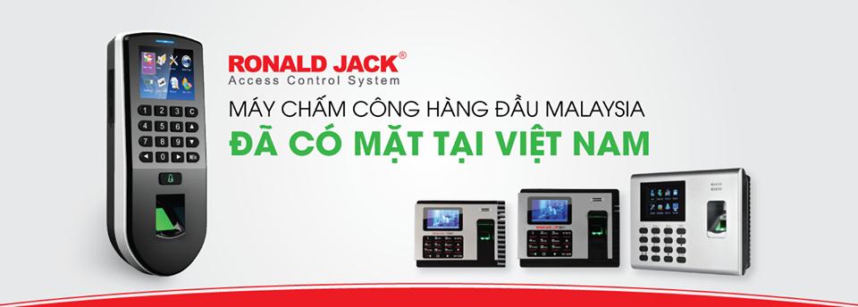 Máy chấm công vân tay RonaldJack, thương hiệu uy tín nhất khi chọn mua máy chấm công
